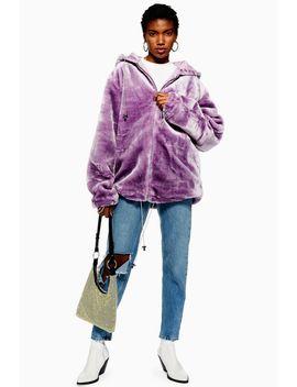 Faux Fur Zip Hoodie By Story Of Lola by Topshop