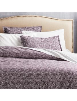 Ellio Plum Organic Full/Queen Duvet Cover by Crate&Barrel
