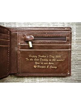 Fathers Day Gift   Personalized Men's Leather Wallet   The Perfect Gift For Dad, Boyfriend Gift, Or Groomsmen Gift by Etsy