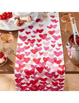 "Valentine's 90"" Table Runner by Crate&Barrel"