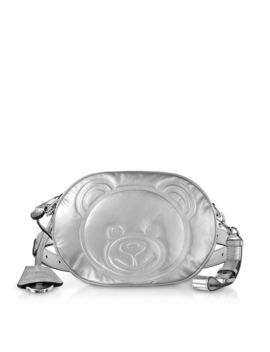 Moschino Teddy Bear Laminated Leather Belt Bag by Moschino