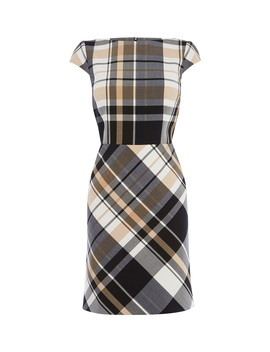 Short Sleeve Checked Dress by De284