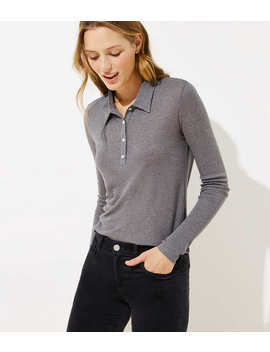 Collared Henley Top by Loft