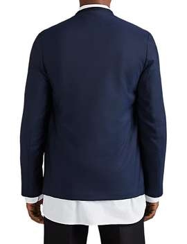 Piqué Wool Collarless Sportcoat by Maison Margiela
