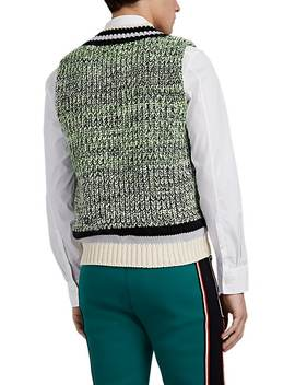 Marled Chunky Knit Cotton Blend Sweatervest by Maison Margiela