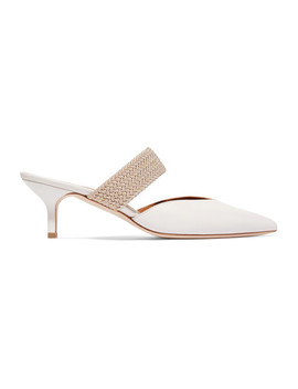 + Emanuel Ungaro Maisie Cord Trimmed Leather Mules by Malone Souliers
