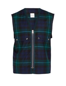 Tartan Wool Gilet by Paul Smith