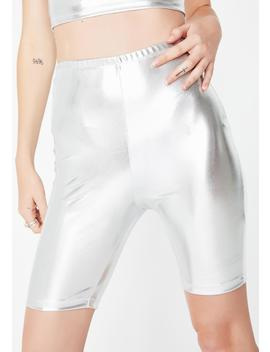 Silver Surfer Cycle Shorts by Motel