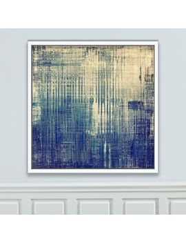 Framed Canvas Print   Blue Times by West Elm