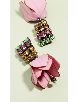Flower And Strass Earrings by Marni