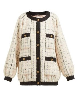 Balloon Sleeve Bouclé Tweed Jacket by Gucci