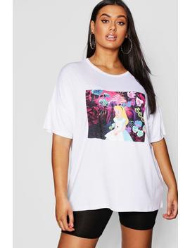 Plus Alice In Wonderland T Shirt by Boohoo