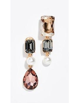 Bold Crystal Earrings by Oscar De La Renta