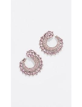 Crystal Curved Earrings by Oscar De La Renta
