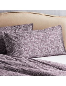 Ellio Plum Organic King Pillow Sham by Crate&Barrel