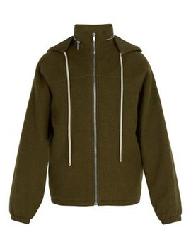 Zip Through Boiled Wool Windbreaker by Rick Owens