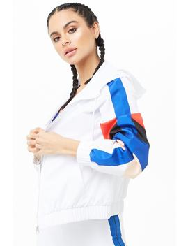 Active Colorblock Raglan Windbreaker by Forever 21