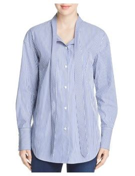 Weekender Tie Neck Shirt by Theory