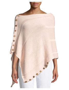Feels Right Wrap W/ Button Detail by Neiman Marcus