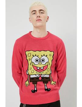 Spongebob Graphic Knit Sweater by Forever 21