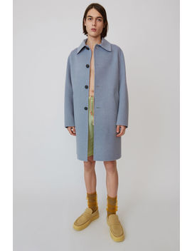 Relaxed Coat  Pale Blue Melange by Acne Studios