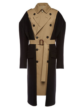 Trench Coat With Wool And Cotton by Maison Margiela
