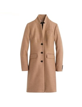 J Crew Regent Topcoat In Double Serge Wool 00   Nwt by J. Crew