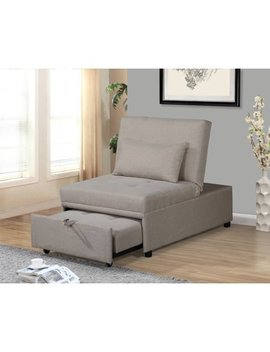 Home Source Randy Beige Convertible Chair by Homesource