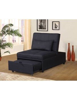 Home Source Randy Black Convertible Chair by Homesource