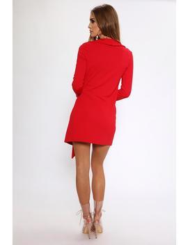Red Tie Side Blazer Dress by I Saw It First