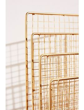 Gold Effect Magazine Rack by Urban Outfitters