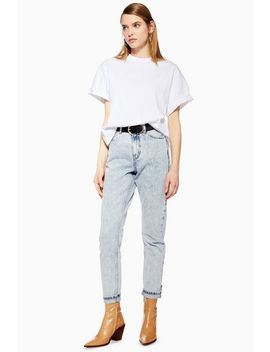 Bleached Acid Mom Jeans by Topshop