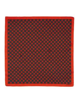 Black & Red Monogram Scarf by Misbhv