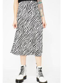 Animalistic Behavior Zebra Skirt by Cotton Candy
