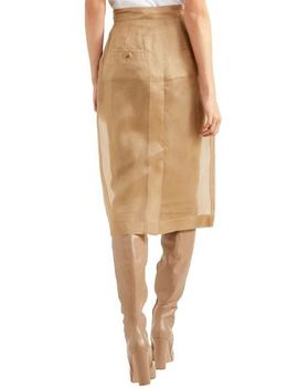 Humour Silk Organza Pencil Skirt by Max Mara