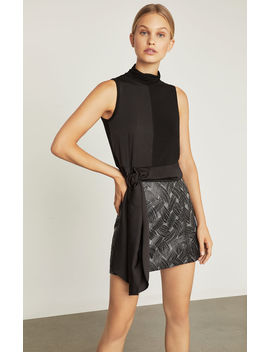Basket Weave Jacquard Mini Skirt by Bcbgmaxazria