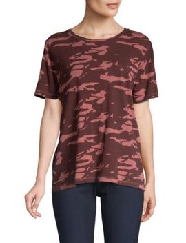 Two Tone Cotton Camo Tee by Monrow