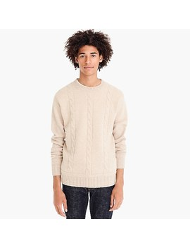 Wallace & Barnes Cableknit Crewneck Sweater by J.Crew