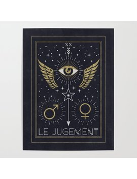 Le Jugement Or The Judgement Tarot Poster by