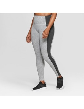 Women's Plus Size Urban High Waisted Leggings   C9 Champion® Black Heather Jacquard by C9 Champion®