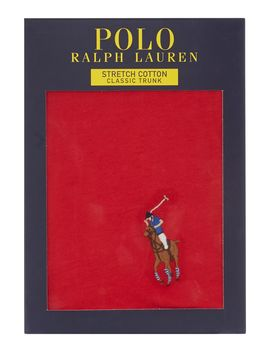 Cotton Stretch Solid Trunks by Polo Ralph Lauren