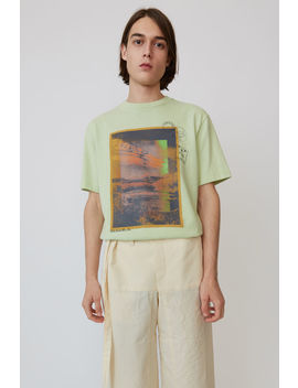 Printed T Shirt Pale Green by Acne Studios