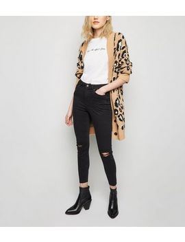 Black 'lift & Shape' Ripped Skinny Jeans by New Look