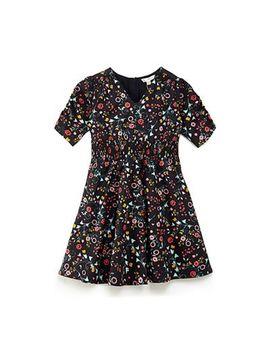 Yumi Girl   Black Floral 'braley' Smock Dress by Yumi Girl