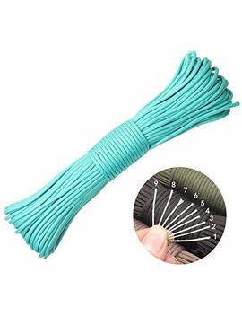 550 Paracord Lanyard Parachute Cord 550lb 100 Feet 9 Strand Rope Great For Outdoors Camping Gardening And Bracelet Braiding by Ge Ge Da