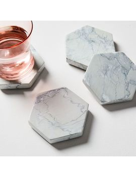 Marble Geo Coasters (Set Of 4) by West Elm
