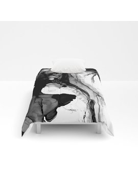 Soft Black Marble Comforters by