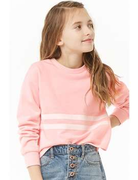 Girls Varsity Striped Top (Kids) by Forever 21