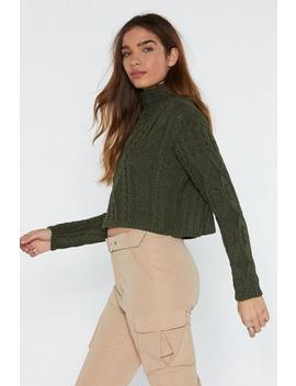 Cable Jumper With Turtle Neck by Nasty Gal