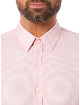 Keyes Stretch Poplin Micro Texture Shirt by Hugo